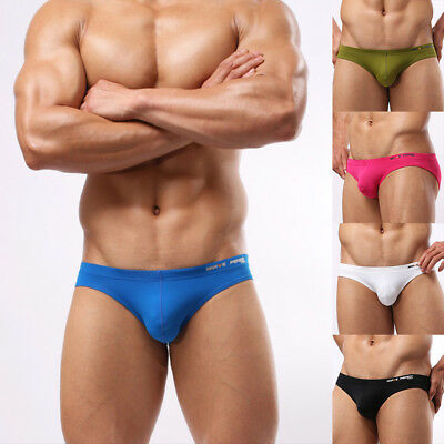 Sexy Mens Underwear Low Rise Briefs Swimming Solid Trunks Briefs Underpants Cool