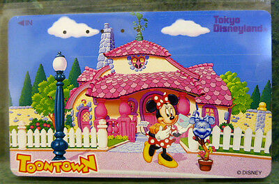 Disney Collectible Prepaid Phone Cards Japan Tokyo Disneyland Toontown