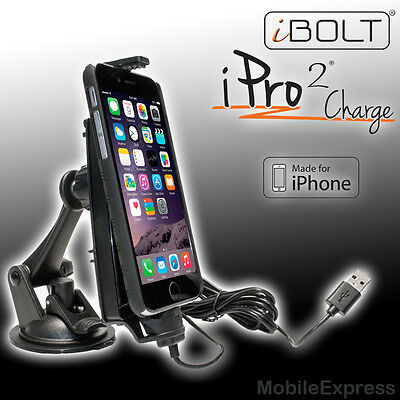 GENUINE iBolt iPro2 Windscreen / Dash Kit Suits iPhone 6 Fitted with a Case