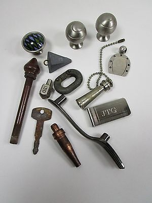 Junk Drawer Metal knobs, Pulls and Misc. VINTAGE 13 pieces