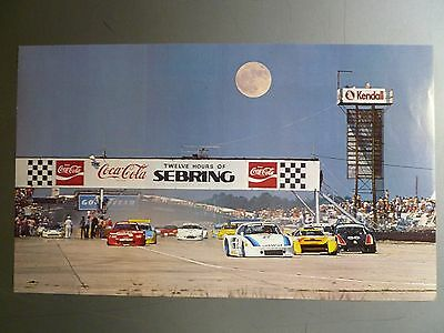 1983 Porsche 935 12 Hours of Sebring Race Car Print Picture Poster RARE! Awesome