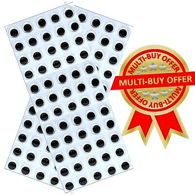 120 Self Adhesive wiggle wiggly googly eyes on sheet 15mm Craft