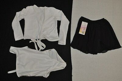 New Bal togs child  small Dancewear lot,  pants, one leotard, one top + skirt