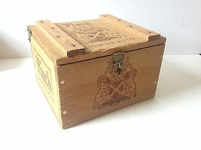 Vintage Haig & Haig Pinch Whiskey Wood Box Crate with Hinge