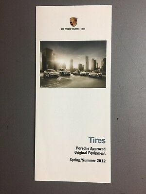2012 Porsche Tires Showroom Sales Folder / Brochure Spring RARE!! Awesome L@@K