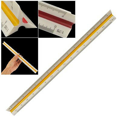 1:20 1:25 1:50 1:75 1:100 1:125 Plastic Triangular Scale Ruler Measurement HK