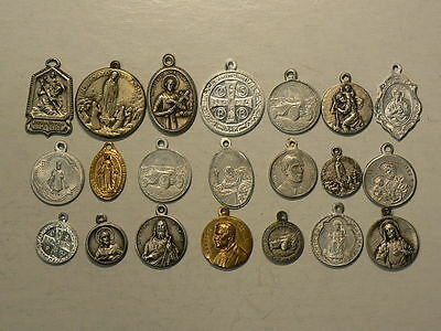Religious Christianity Medallions, Lot of 21 Medals #G7062