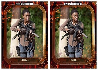 2x BADASS MARATHON WAVE 3 SASHA The Walking Dead Card Trader Digital