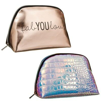 Elegant Style Beautiful Cosmetic Bag wide-opening zip with plenty of Space