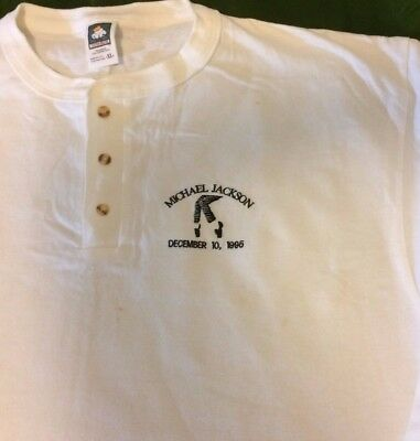"""Michael Jackson """"One Night Only"""" concert shirt.  White, long sleeve, size """"XL"""""""