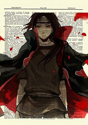 Itachi Naruto Ninja Anime Dictionary Art Print Poster Picture Japan Book Manga