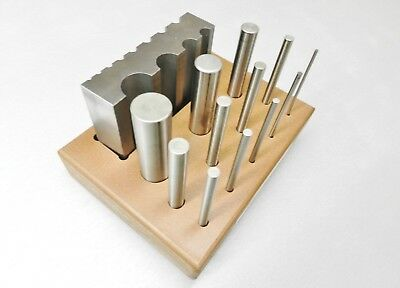 Steel Forming Swage Block Half Round Block & Round Punches Set of 12 size Tools