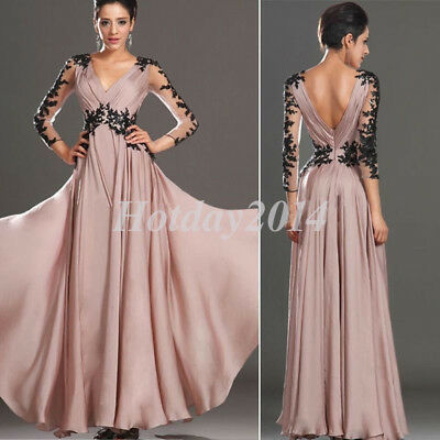 Women Formal Prom Dress Cocktail Party Ball Gown Evening Bridesmaid Long Dresses