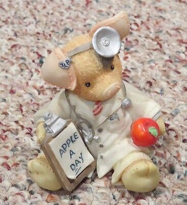 Enesco This Little Piggy 167657 An Apple a Day Keeps the Doctor Away Figurine
