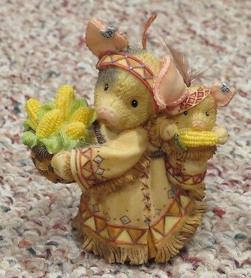Enesco This Little Piggy 187801 We're Gonna Eat Like Pigs Native Figurine 1996