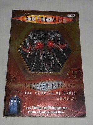 DOCTOR WHO THE VAMPIRE OF PARIS Stephen Cole THE DARKSMITH LEGACY Book 5