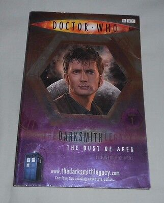 DOCTOR WHO THE DUST OF AGES Justin Richards, THE DARKSMITH LEGACY Book 1