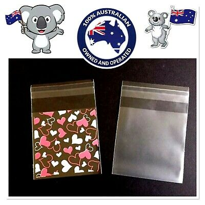 """🇦🇺x25 SELF SEAL (7x7cm) """"CELLO BAGS""""~TARTS/SOAPS/CRAFT/FAVOUR🎉FOOD PACKAGING"""
