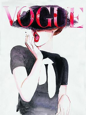 Vogue Watercolour Magazine Cover VG01 A3 A4 POSTER PRINT BUY 2 GET 1 FREE