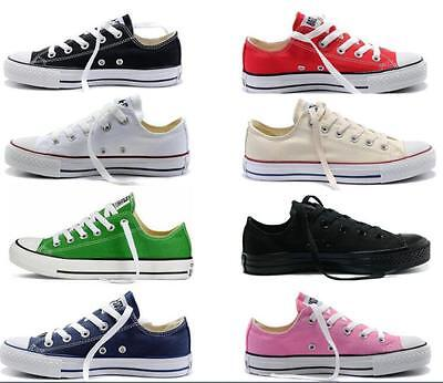 Women's Men Canvas Shoe All-Star Chuck Taylor Low Top Trainers Full Size Shoes