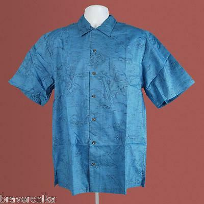 Tim Cotterill 100% Cotton Campshirt Frogtails Denim Haw/style Shirt, Size L.new
