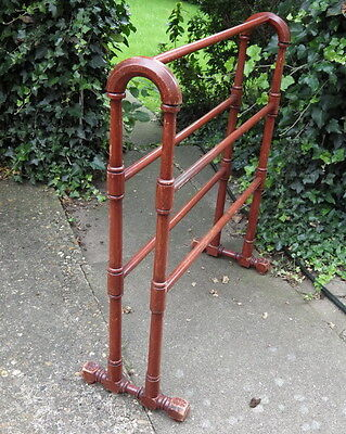 ANTIQUE Victorian 19th Century PAINTED PINE TOWEL RAIL