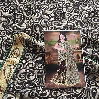 Indian Katan/ Banarasi Sari/Georgette /Fancy Bridal Chiffon Embroidered Saree 39