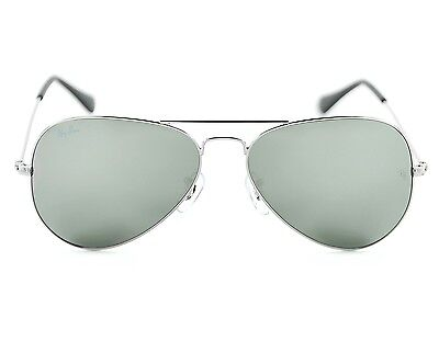 Ray Ban RB3025 Aviator Classic W3275 Silver Frame/ Grey Mirror Glass Lens 55mm