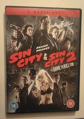 SIN CITY & SIN CITY 2 Dame to Kill For DVD 2 disc set bundle