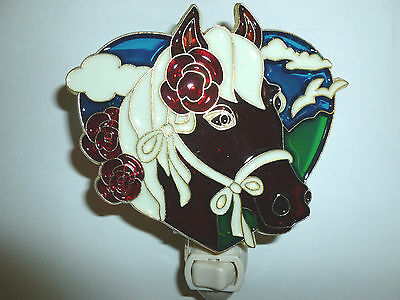 """Stain Glass Style - """"HORSE""""    NIGHT LIGHT"""