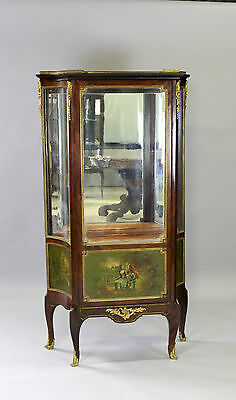 A Vernis Martin Painted Vitrine / Cabinet With Marble Top