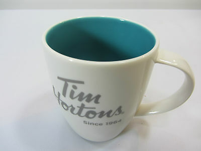 Tim Hortons Limited Edition #014 White Blue Inside Coffee Tea Mug