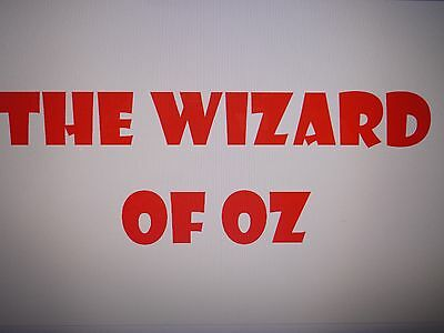 Pantomime Script - 'the Wizard Of Oz'