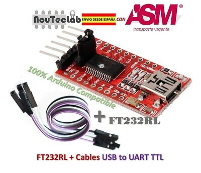 FTDI FT232RL USB to TTL Serial Converter Adapter 5V and 3.3V + Cable