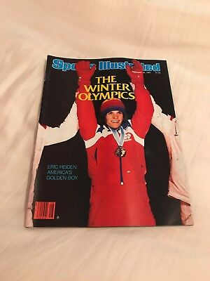 Feb 25, 1980 Sports Illustrated NO LABEL - Eric Heiden America's Golden Boy