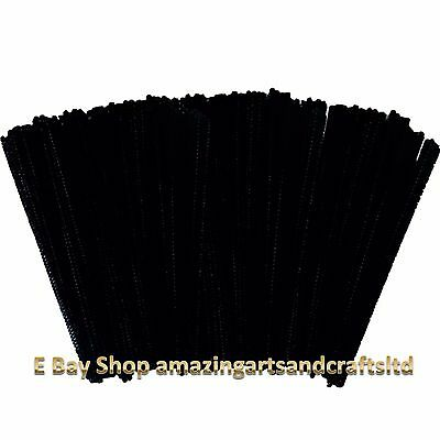 Pipe Cleaners Chenille Stems 150mm x 4 mm Black 500