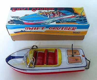 Swift Cruiser Modern Toys Japan no. 3166, 60er Jahre, Blech, Kurbel, O-Karton