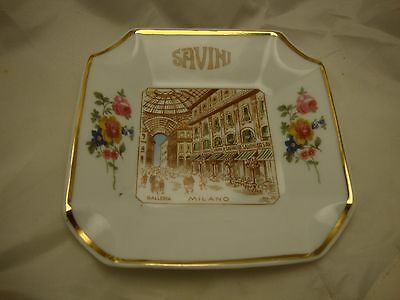 Old Vintage Ashtray Italy Savini Galleria Milano