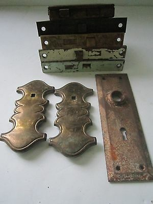 5  Vintage Door Mortise Locks 3 Plates No Skeleton Key- Norwalk,Skillman