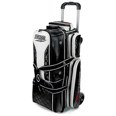 Storm Rolling Thunder 3-Ball Roller Bowling Bag Signature Black
