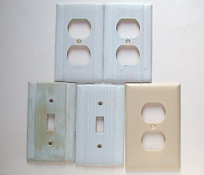 Vtg Lot of 5 Uniline - Slater Switch Plate / Outlet covers -old - Bakelite?