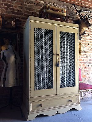 Beautiful French Painted Pine Wardrobe Armoire