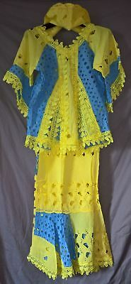 Stunning Traditional African Paper Lace Set - Top and Wrapper Skirt - size L