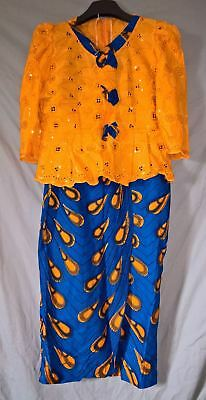 Stunning Traditional African Set - Paper Lace Top and Hitarget Skirt - size XL