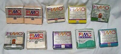 FIMO Oven Bake Modeling Material Clay made in Germany LOT of 10