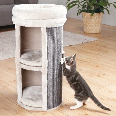 Trixie Pet Products Mexia 2 Story 29 in. Cat Tower, Gray, 29