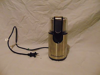 """KitchenAid Coffee Grinder Stainless Steel Silver color BCG111OB0 8 1/2"""" x 4"""""""