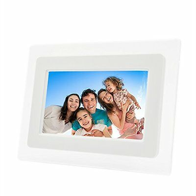 Electronic Picture Frame 7in LCD Hi Res Digital Photo Frame 32GB Memory SD Card