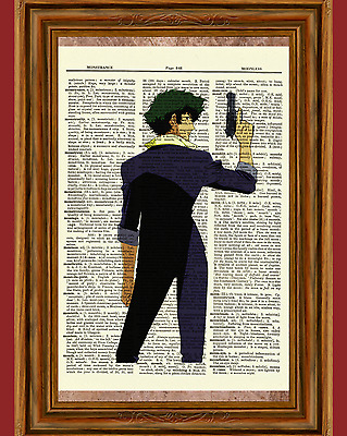 Cowboy Bebop Anime Dictionary Art Print Poster Picture Japan Manga Spike Spiegel