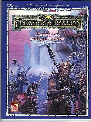 Hordes of Dragonspear AD&D 2e Forgotten Realms FRQ2 TSR 9369 Price Inc Del in UK